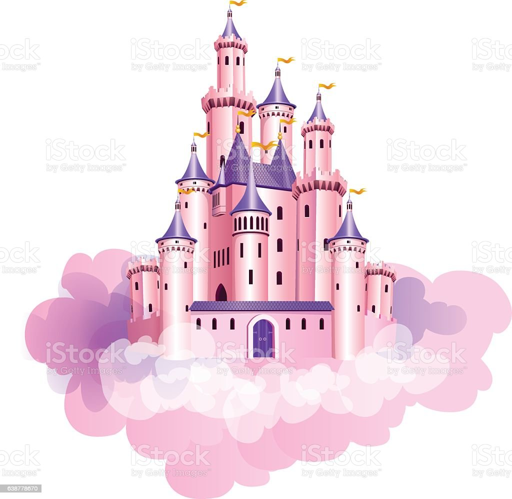 Pink Princess Castle Stock Vector Art & More Images of ...