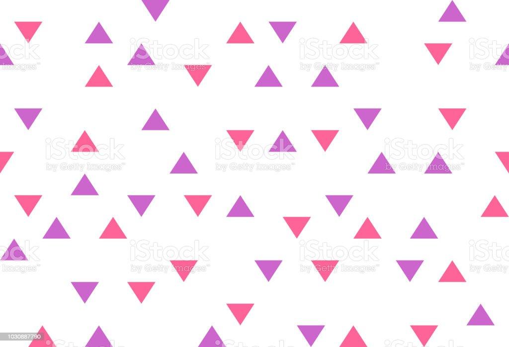 Ilustración de Triángulos Abstractos Colores Morado Rosa Retro Papel ...