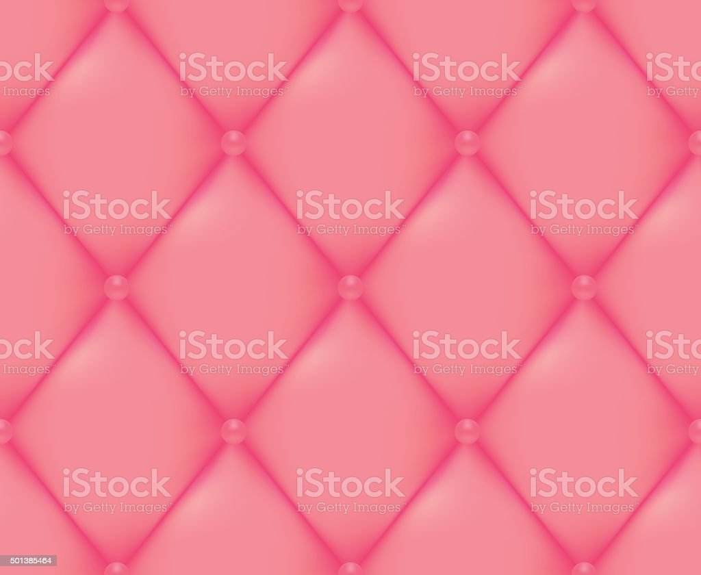 Pink Quilted Seamless Vector Pattern vector art illustration