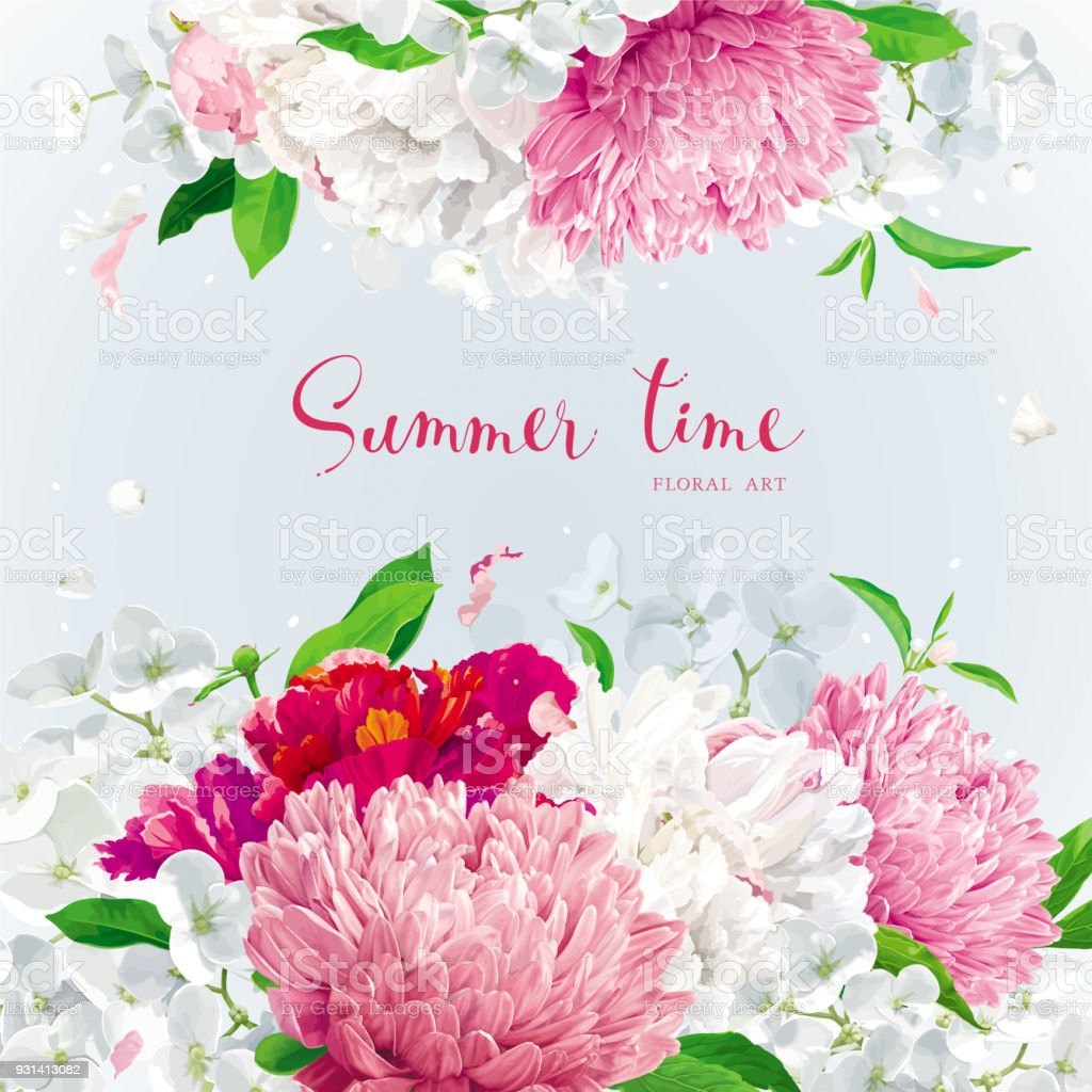 Pink red and white summer flowers background stock vector art more pink red and white summer flowers background royalty free pink red and white summer mightylinksfo