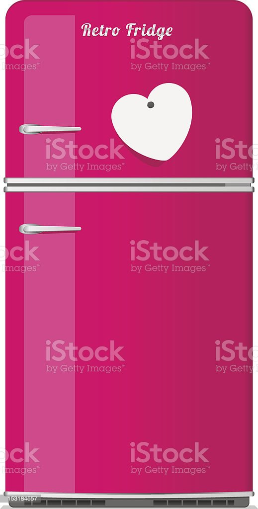 refrigerator clipart. pink retro fridge vector art illustration refrigerator clipart