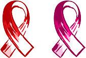 Pink ribbon art