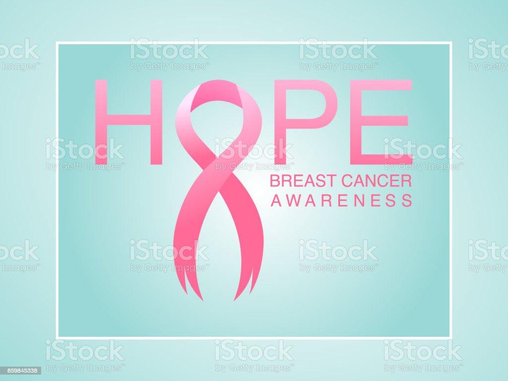 Pink ribbon breast cancer awareness symbol, vector background vector art illustration