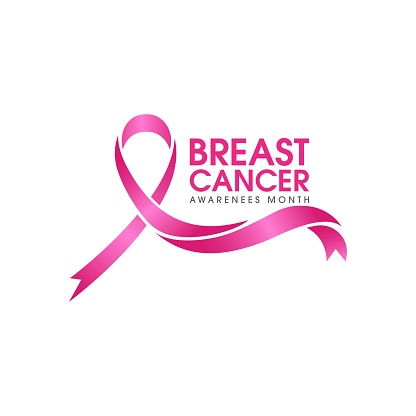 pink ribbon breast cancer icon