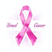 Pink ribbon, breast cancer
