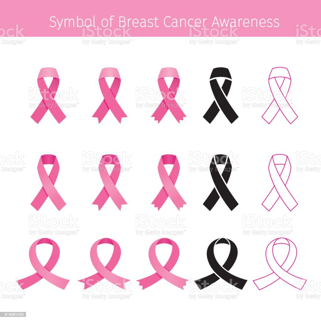 Pink Ribbon, Symbol Breast Cancer Awareness vector art illustration