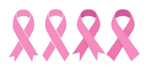 stockillustraties, clipart, cartoons en iconen met pink ribbon. vector-pictogram - breast cancer