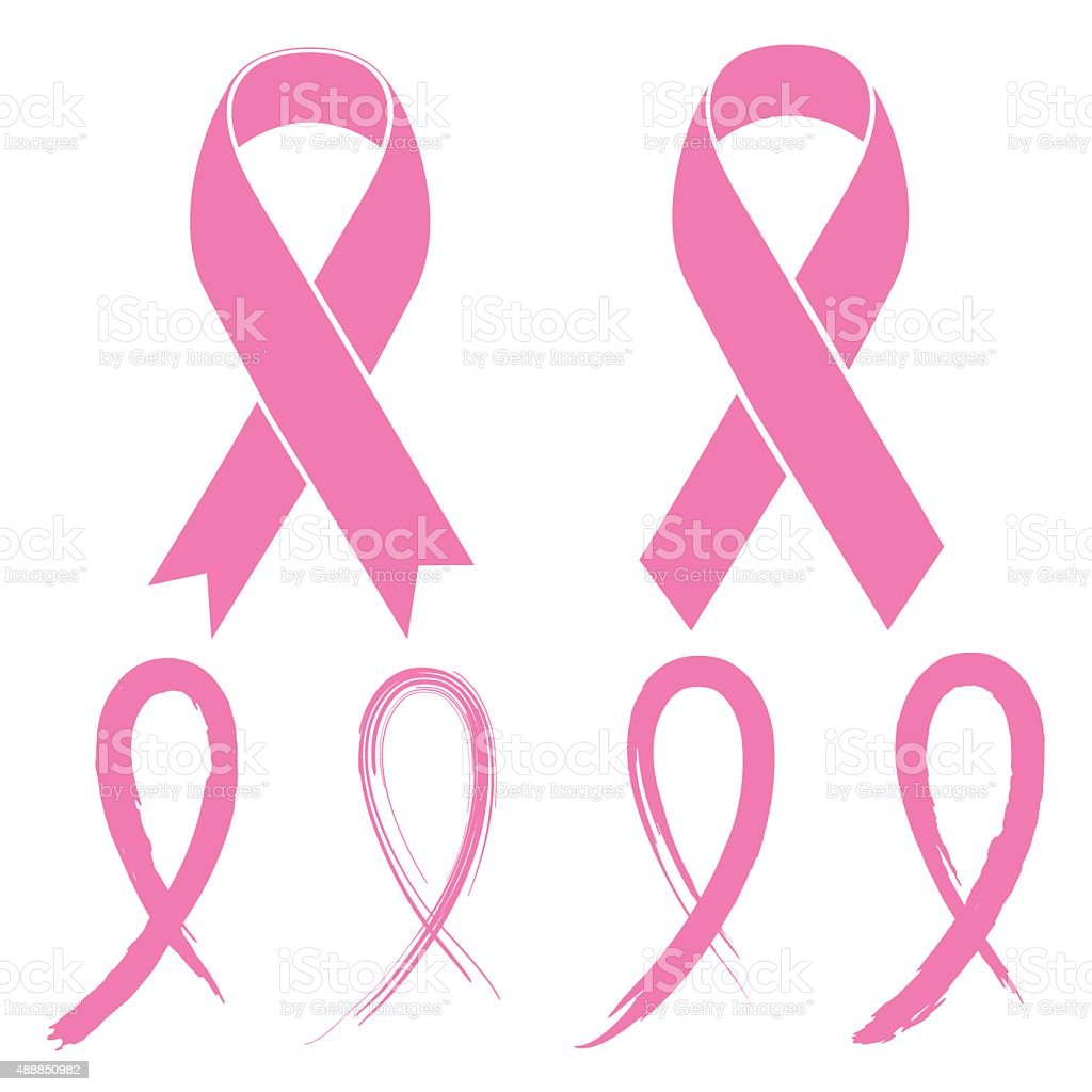 Pink Ribbon vector art illustration