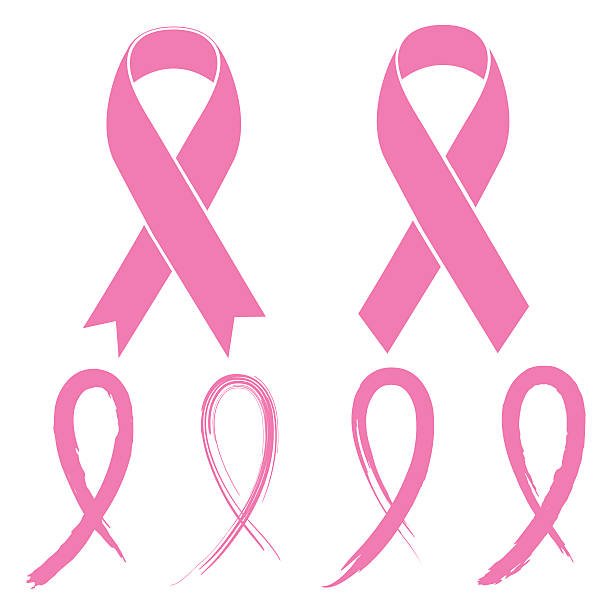 Pink Ribbon Pink Ribbon breast stock illustrations