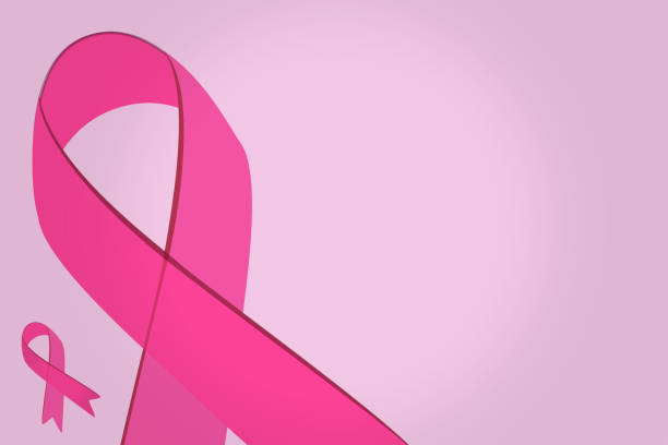 Pink ribbons, Breast cancer awareness, October pink background vector art illustration