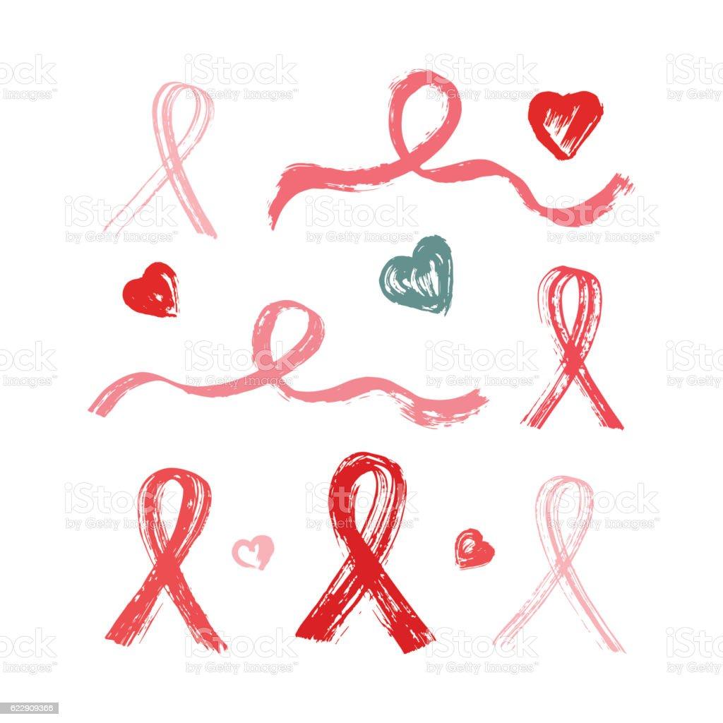 Pink ribbons grunge brush strokes symbols of breast cancer pink ribbons grunge brush strokes symbols of breast cancer awareness royalty free pink ribbons biocorpaavc