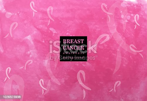 breast cancer awareness background ribbons