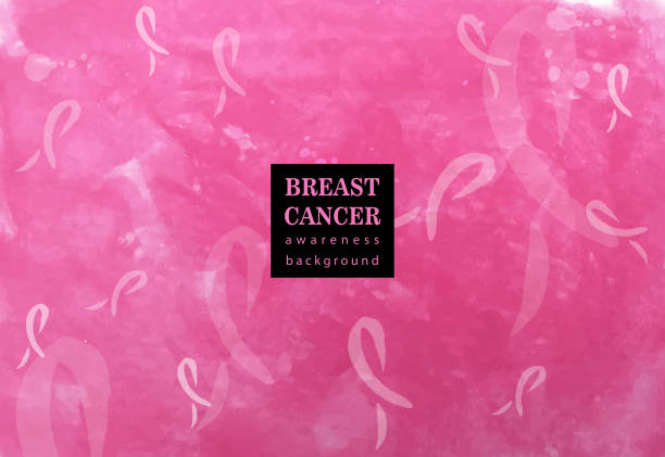 stockillustraties, clipart, cartoons en iconen met roze linten - breast cancer