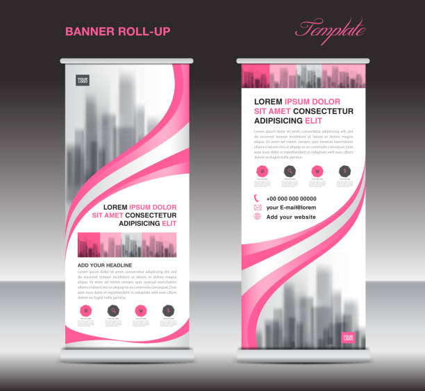 Pink Roll up banner template, stand, display, x-banner, j-flag, pull-up, poster, event, advertisement, business flyer layout, presentation, ads, exhibition, roadshow, printing media Pink Roll up banner template, stand, display, x-banner, j-flag, pull-up, poster, event, advertisement, business flyer layout, presentation, ads, exhibition, roadshow, printing media rolling stock illustrations
