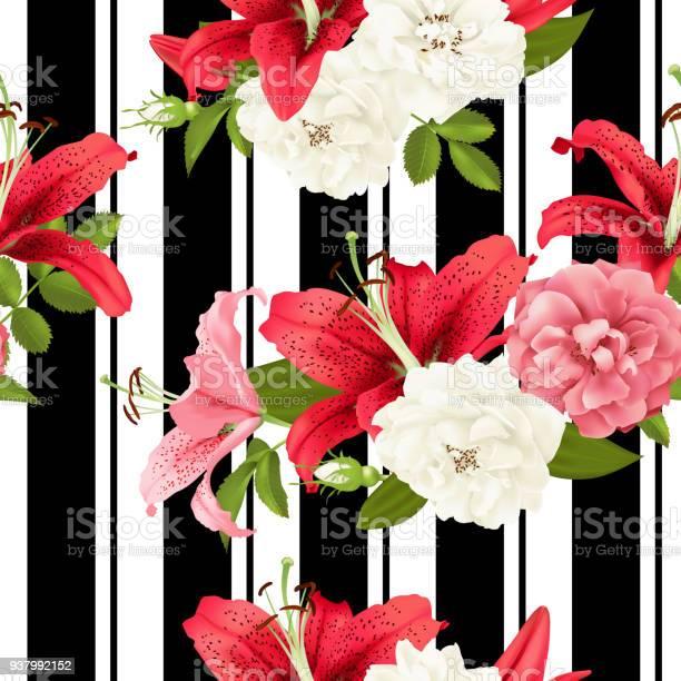 Pink rose and lily seamless pattern vector vector id937992152?b=1&k=6&m=937992152&s=612x612&h=es2svoubgpjheferekdkcj5dwldb9sfhq4r0vfnligy=