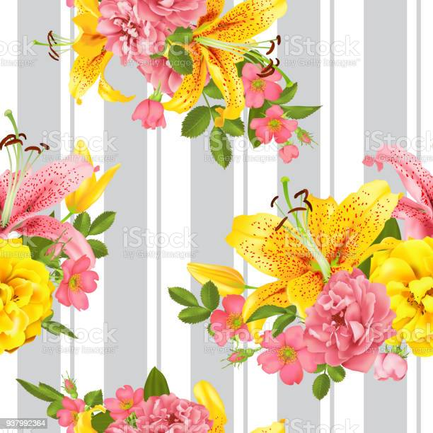 Pink rose and lily seamless pattern vector vector id937992364?b=1&k=6&m=937992364&s=612x612&h=bbpbqdkrdxwbncq1l9gyvg3 pclgivvqe6cgdlbjqca=