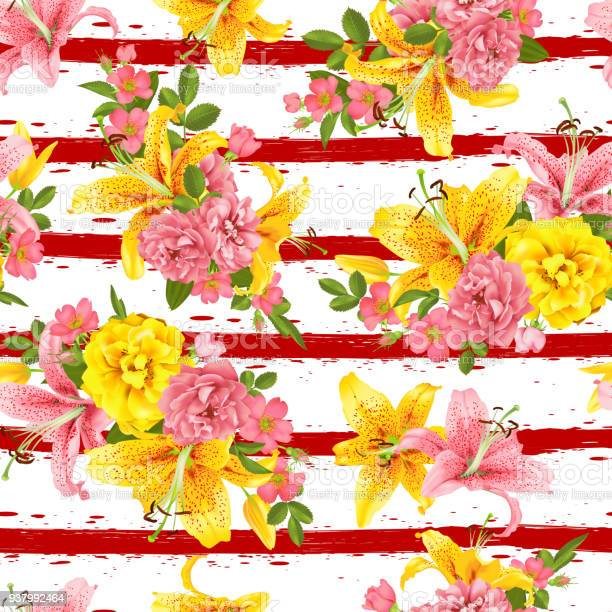 Pink rose and lily seamless pattern vector vector id937992464?b=1&k=6&m=937992464&s=612x612&h=8wdfgmv5mdzmobzfpsw4oy6iw7fwjg1zvlesjghe sa=