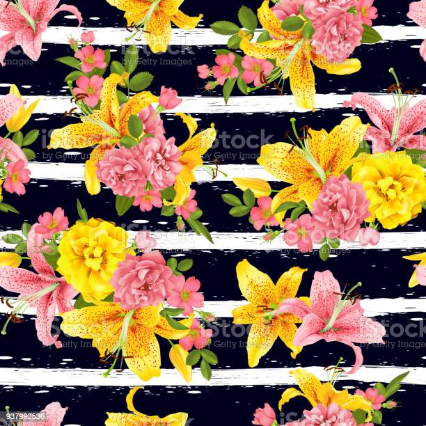Pink rose and lily seamless pattern vector vector id937992536?b=1&k=6&m=937992536&s=612x612&h=4fjvvvaupqiezvv3ohyd1ahx1rolhu tst 4j10gdre=