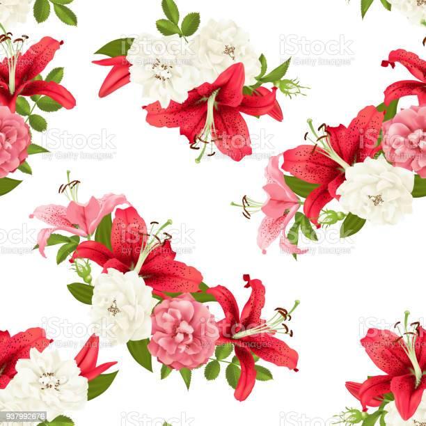 Pink rose and lily seamless pattern vector vector id937992676?b=1&k=6&m=937992676&s=612x612&h=yvgpsnsovzyelis 5vxze1qdnsz9piojg1akxaijgwc=