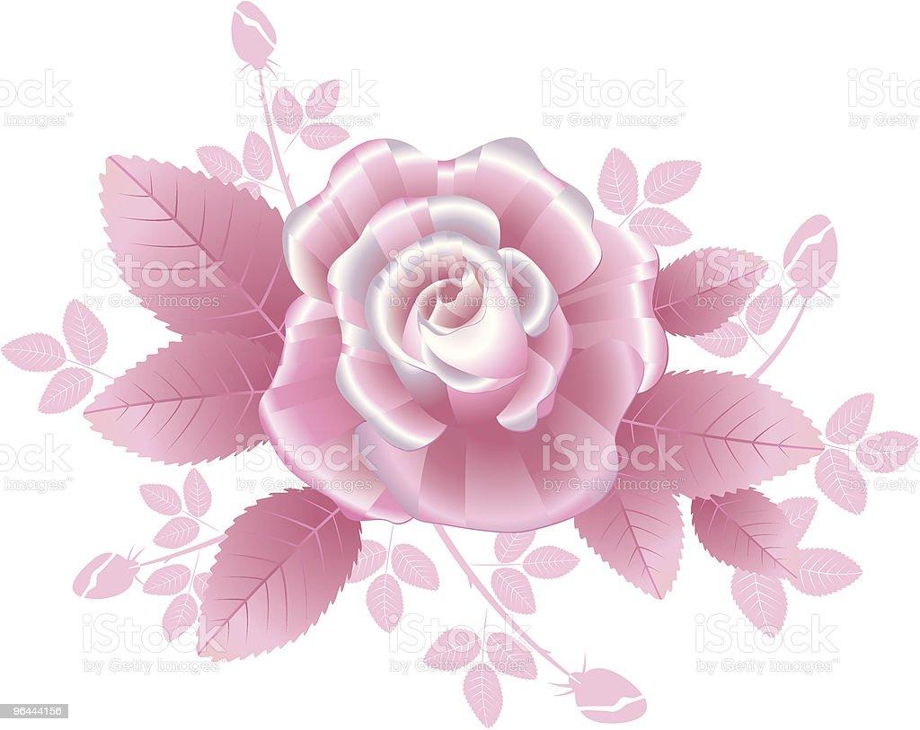 Pink Rose - Royalty-free Blad vectorkunst