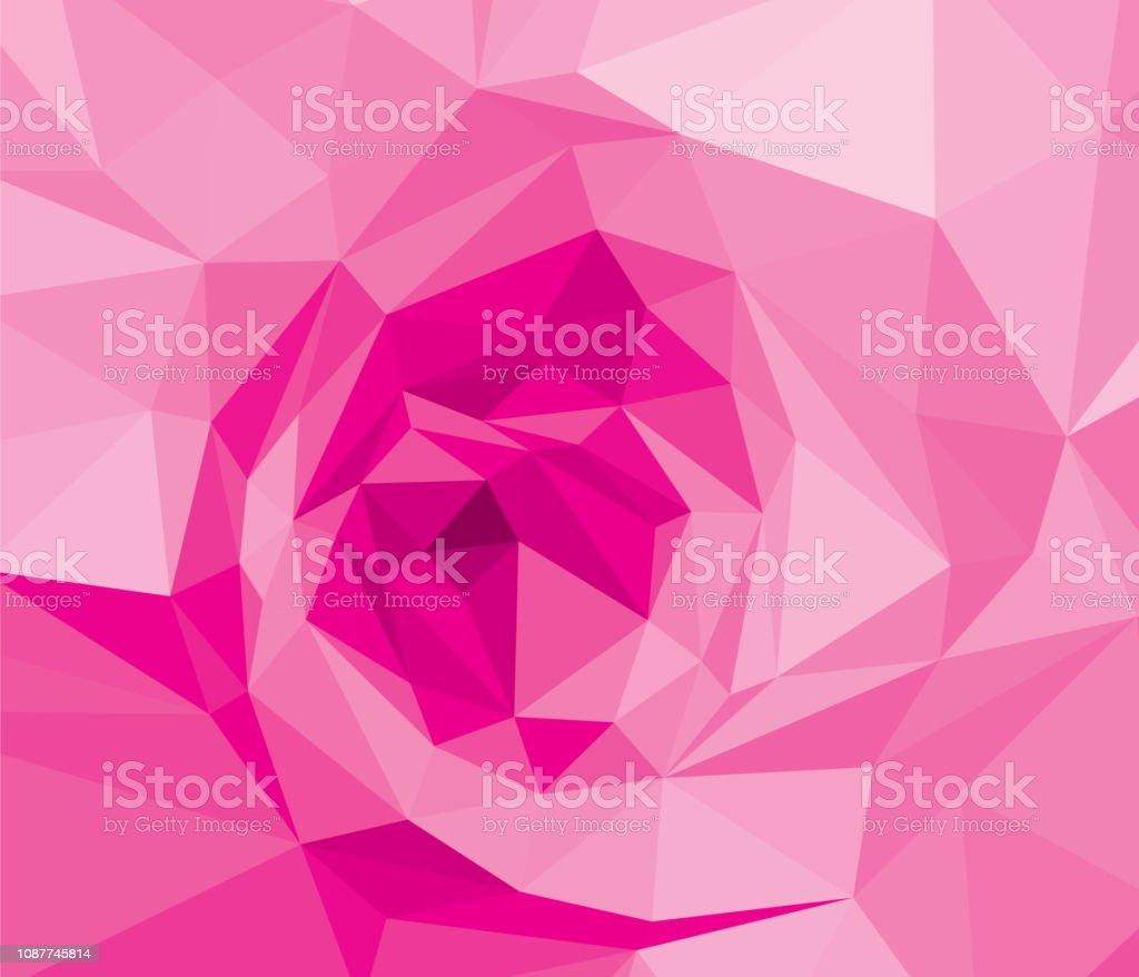 Pink Rose Wallpaper Background Wedding Stock Illustration