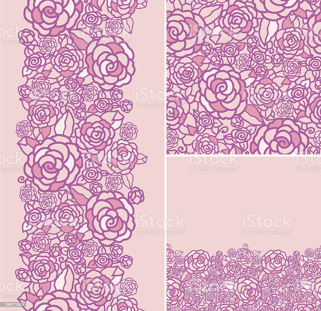 Pink roses texture seamless patterns set royalty-free pink roses texture seamless patterns set stock vector art & more images of backgrounds