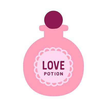 Pink round Love Potion bottle