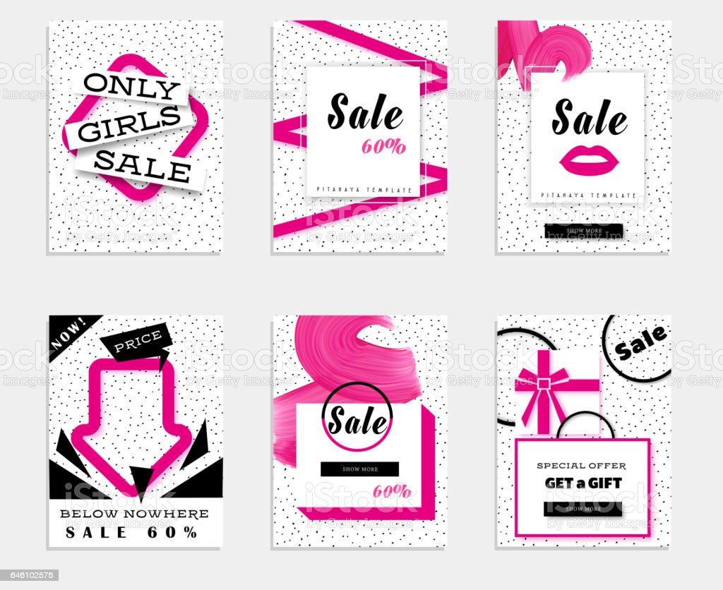 Ilustración De Rosa Banner De Web De Promoción De Venta