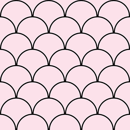 Pink scales seamless background. Pink pattern. Fish sclaes, mermaid.