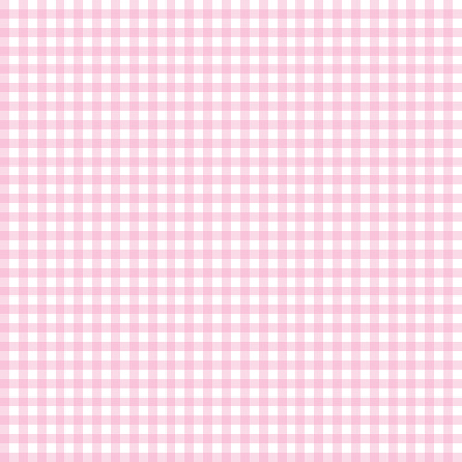 Pink seamless gingham pattern. Vector.