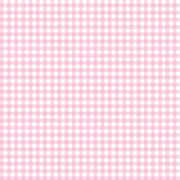 Pink seamless gingham pattern. Vector. Pink seamless gingham pattern. Vector illustration. baby girls stock illustrations