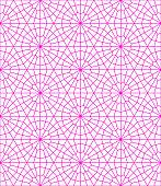 Pink Seamless Minimalist Modern Geometric Pattern on White Background. Clean Modern Wallpaper with Bright Color. Lisbon Arabic Geometric Tile, Mediterranean Ornament.