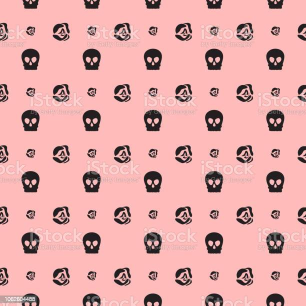 Pink seamless pattern with roses and skulls vector id1062604488?b=1&k=6&m=1062604488&s=612x612&h=li0oucvfxabcopoa5gsuh86fdykr3yfdhatgnhl6oma=