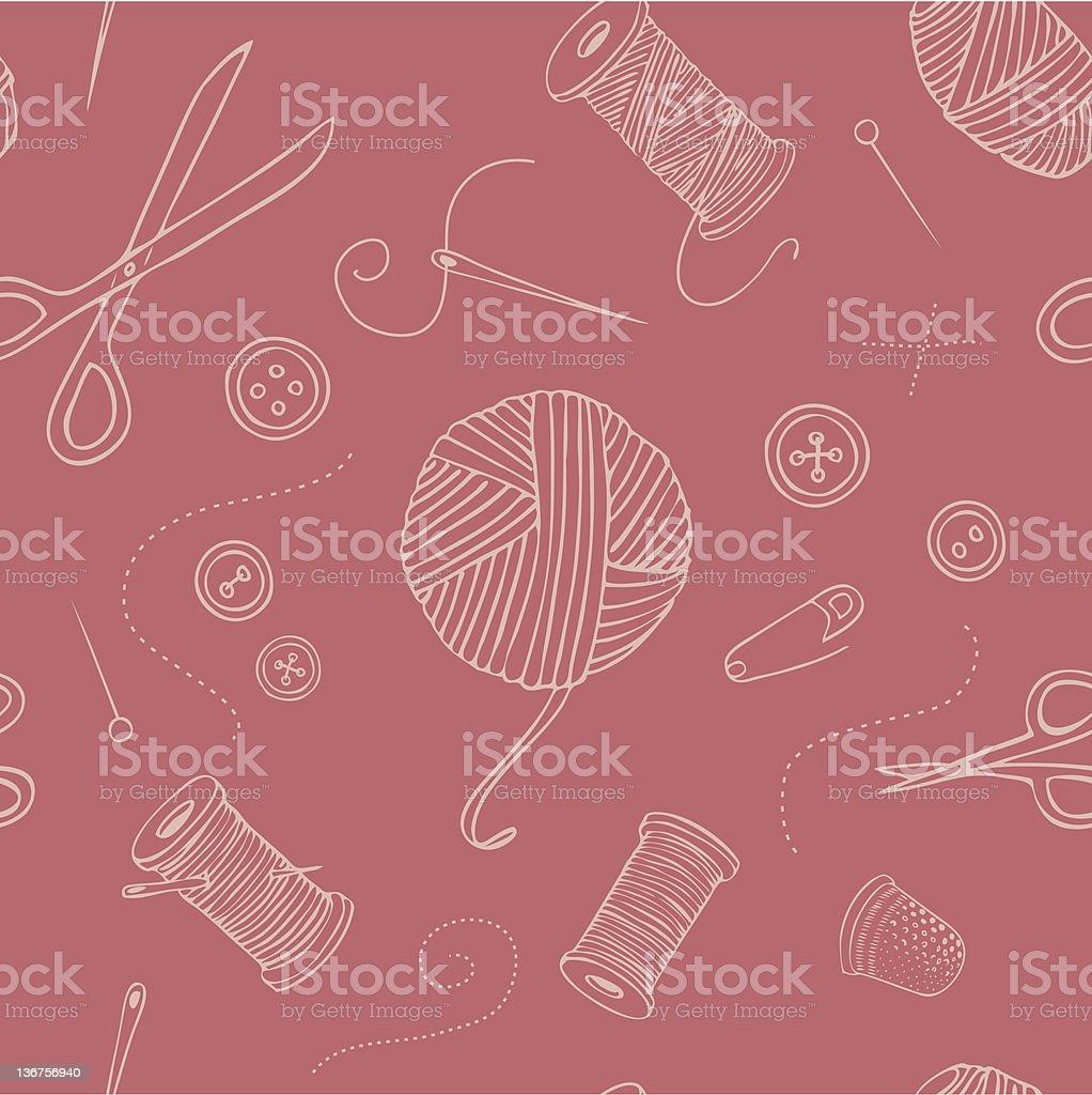 Nähen Nahtlose Muster – Vektorgrafik