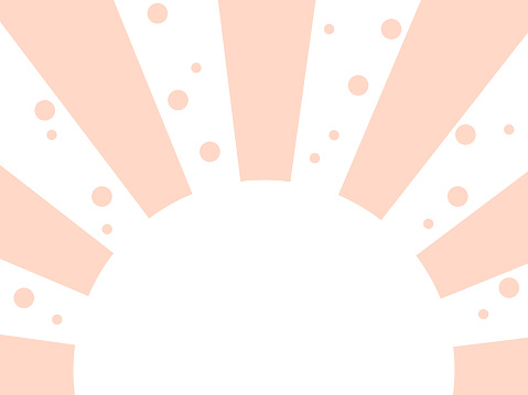 Pink semicircle radial background