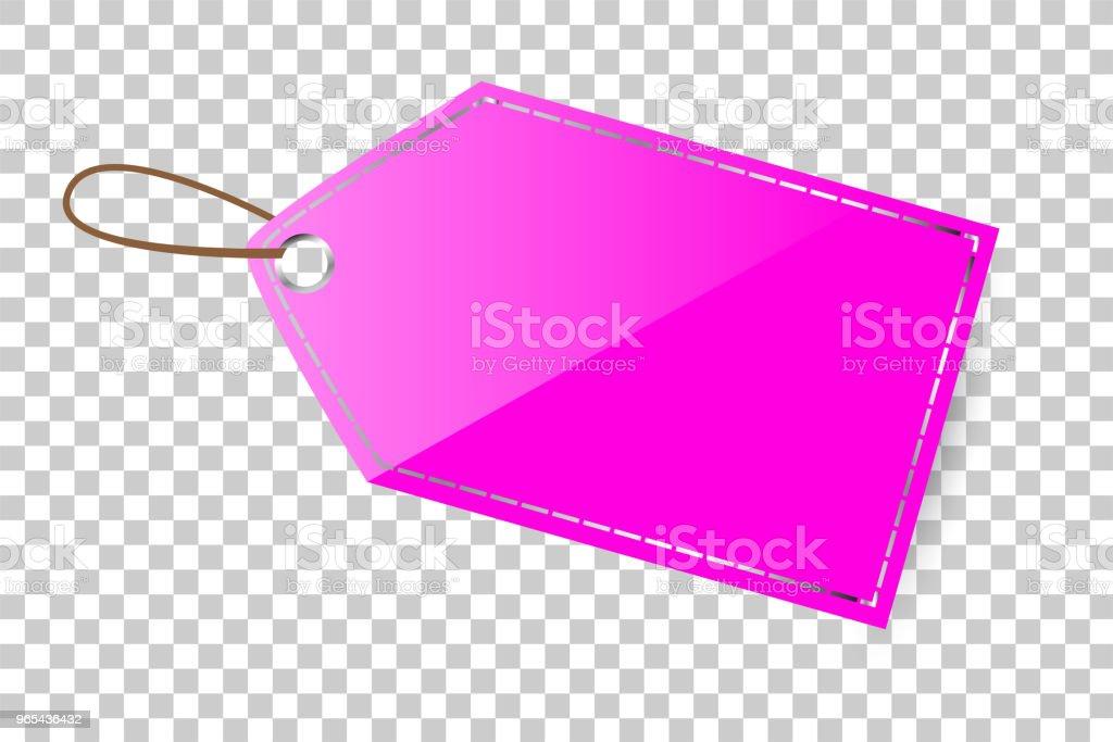 pink shining blank tag, at transparent effect background pink shining blank tag at transparent effect background - stockowe grafiki wektorowe i więcej obrazów bez ludzi royalty-free
