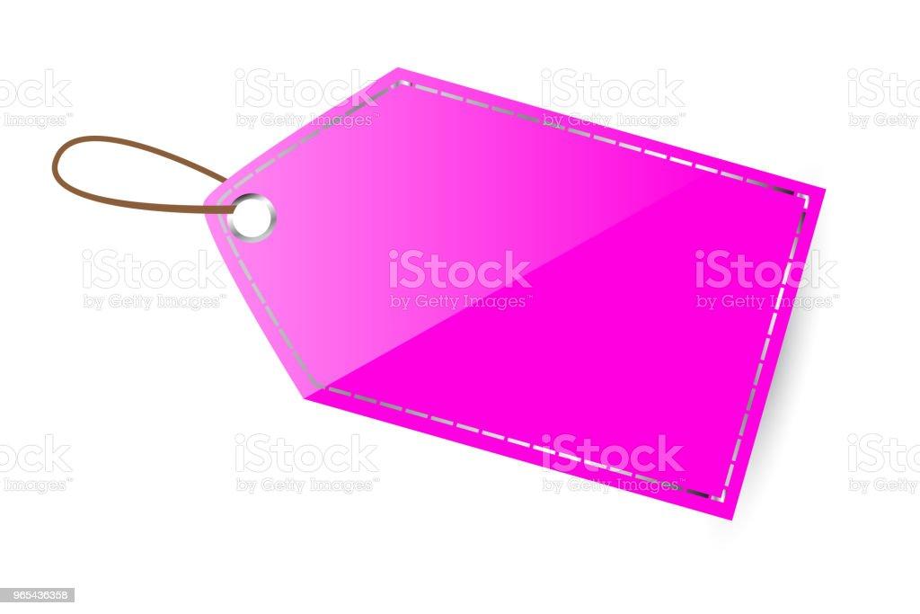 pink shining blank tag, at white background pink shining blank tag at white background - stockowe grafiki wektorowe i więcej obrazów bez ludzi royalty-free