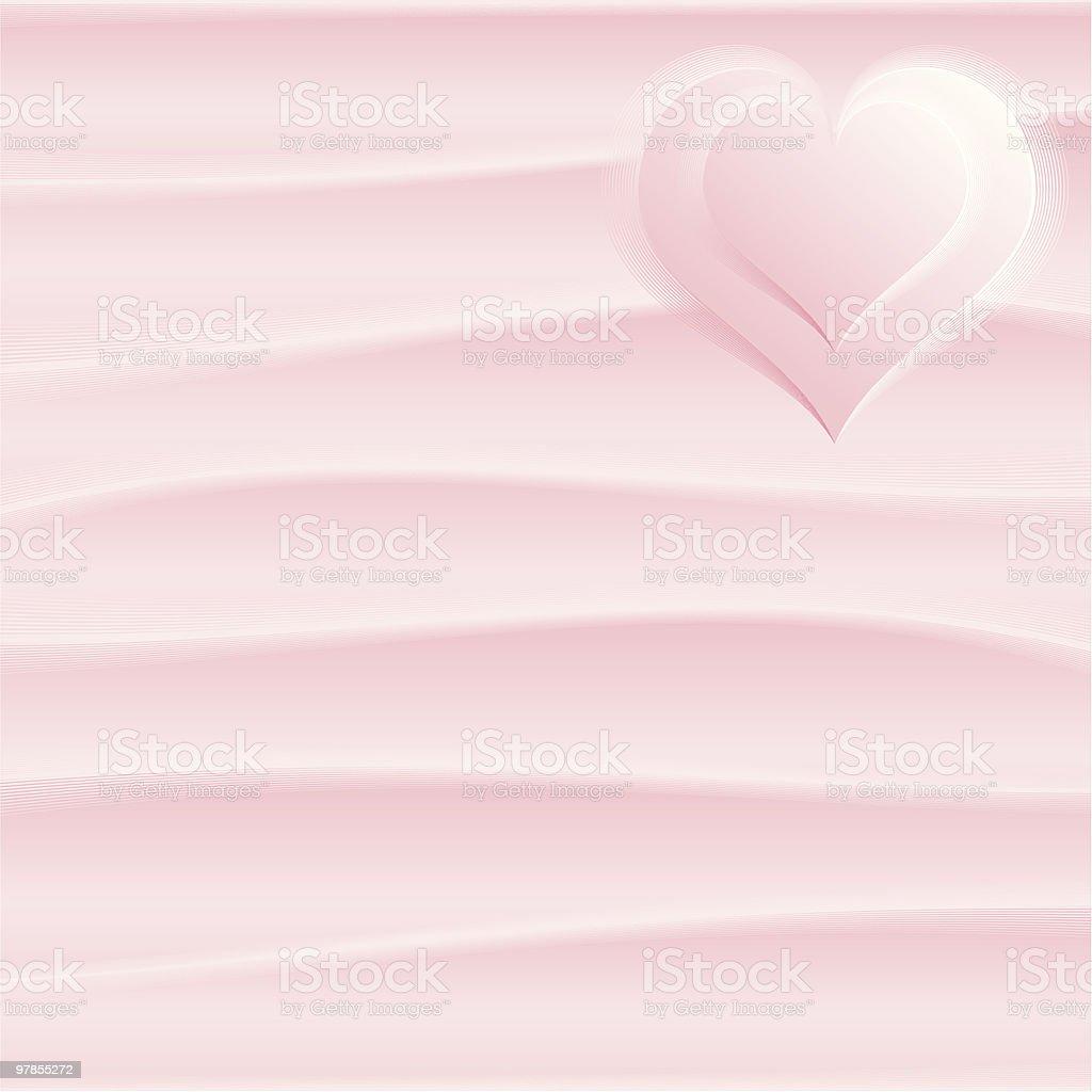 Pink silk royalty-free stock vector art