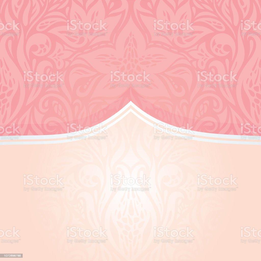 Ilustración De Diseño De Invitación Decorativo Retro Plata