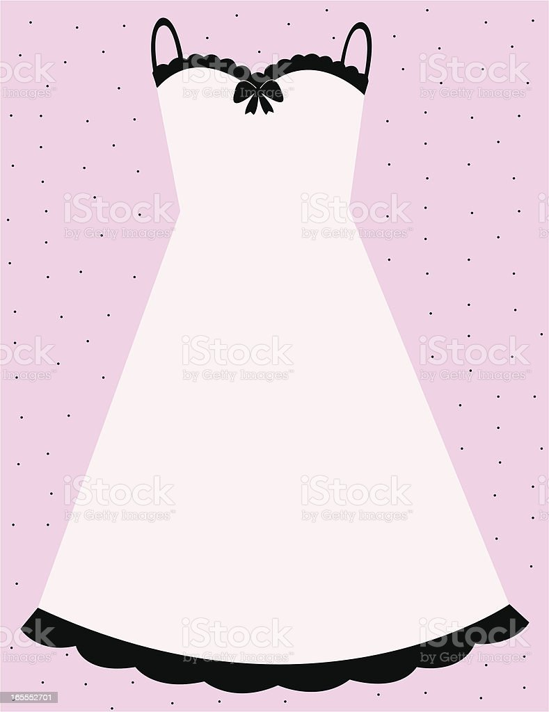 Pink slip dress royalty-free stock vector art