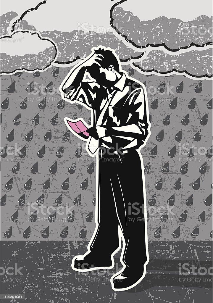 Pink Slip royalty-free stock vector art