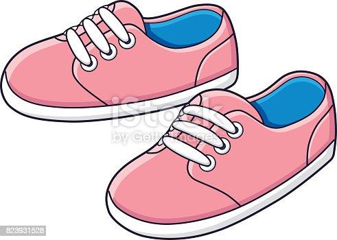 istock Pink sneakers vector. 823931528