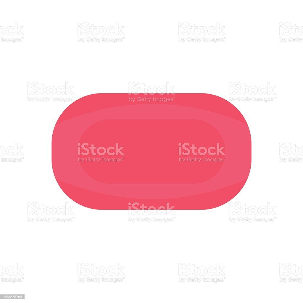 Pink soap flat vector art illustration