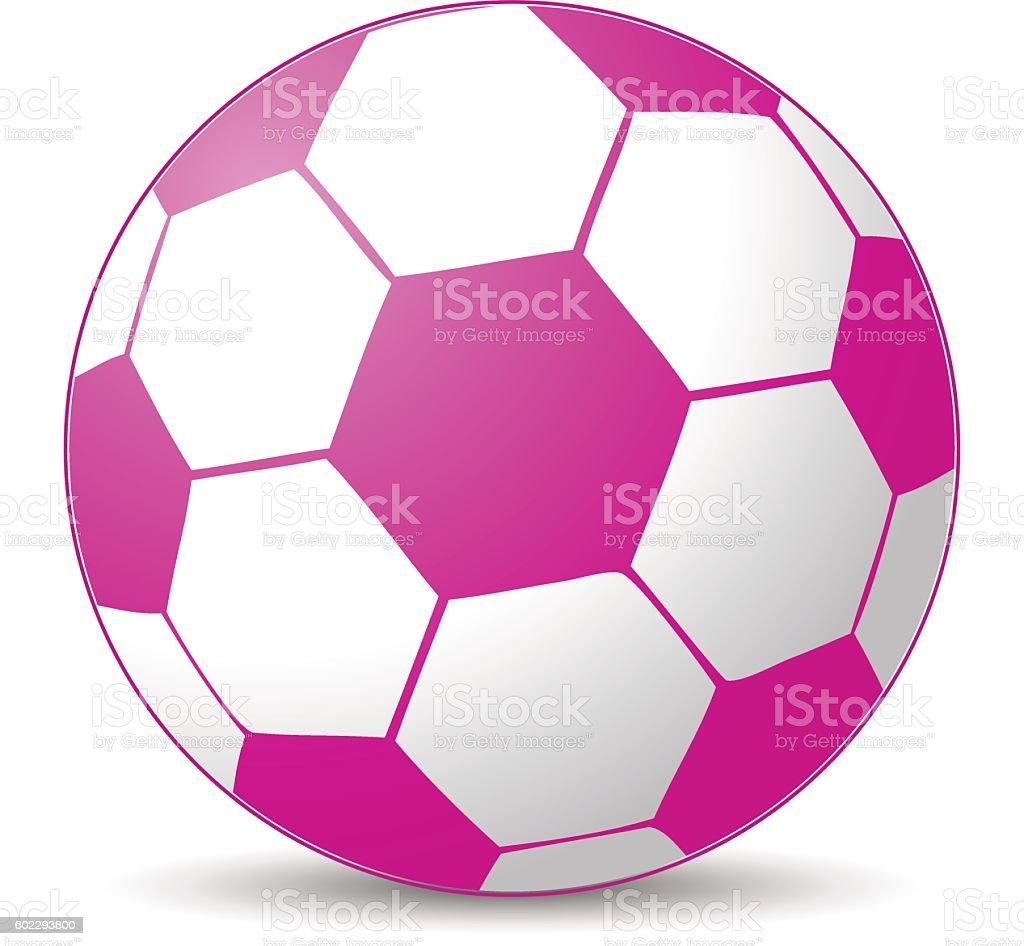 Rosa bola de futebol - ilustração de arte em vetor