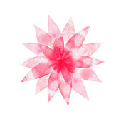 Pink Spring Blossoms Background. Hand Painted Layered Watercolor Flowers Clip Art. Watercolor Floral Pattern. Design Element for Greeting Cards and Wedding, Birthday and other Holiday and Summer Invitation Cards Background.