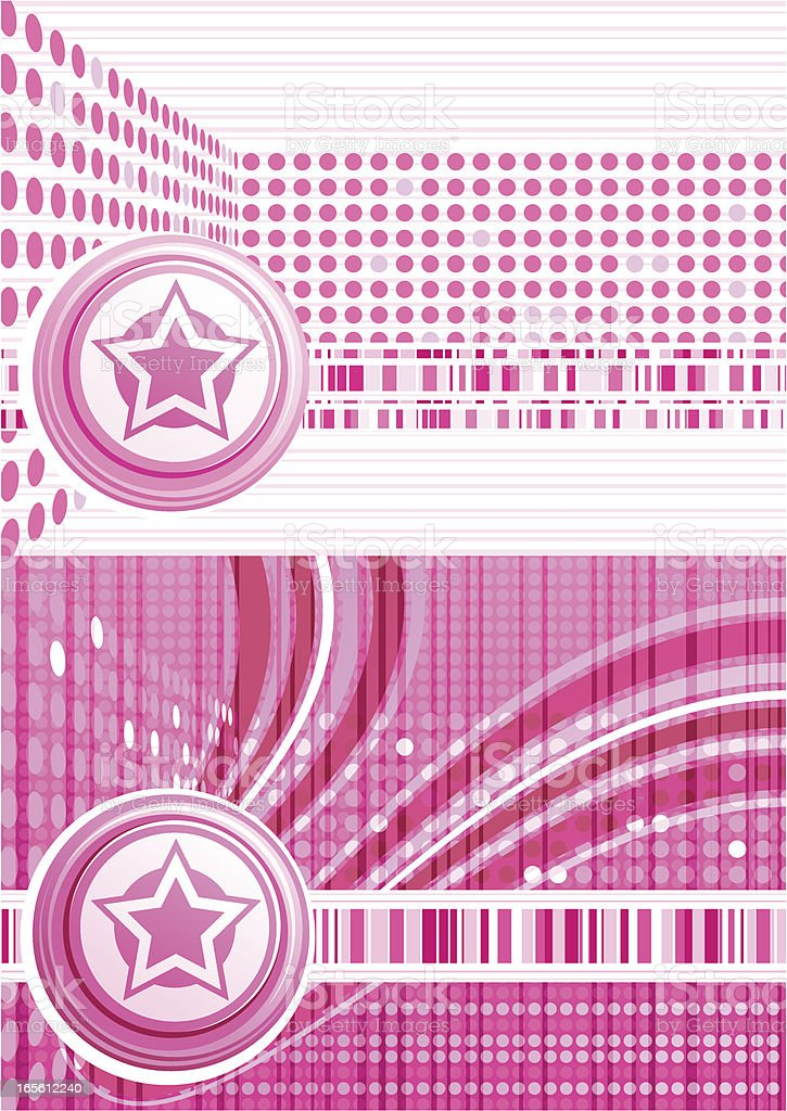 Pink Star Background vector art illustration