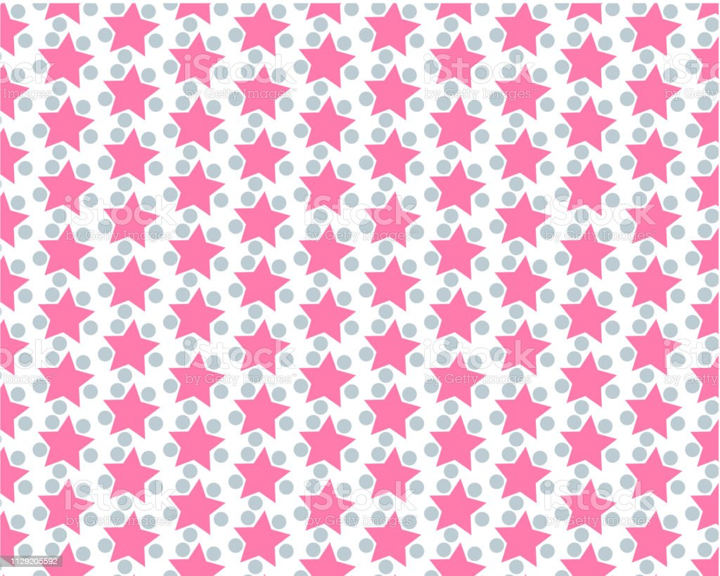 Abstract background with pink stars. pattern with pink textured stars...
