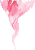 watercolor pink swirl design
