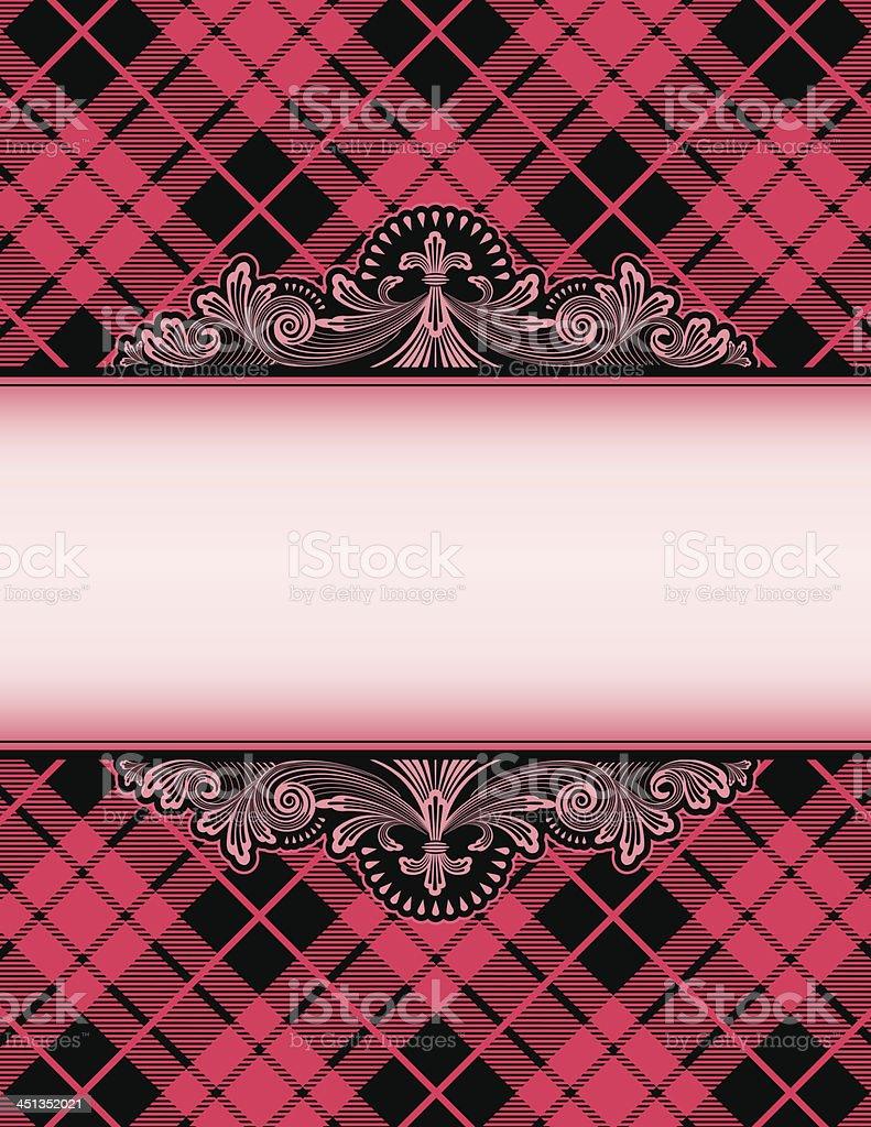 Pink Tartan Plaid background royalty-free stock vector art
