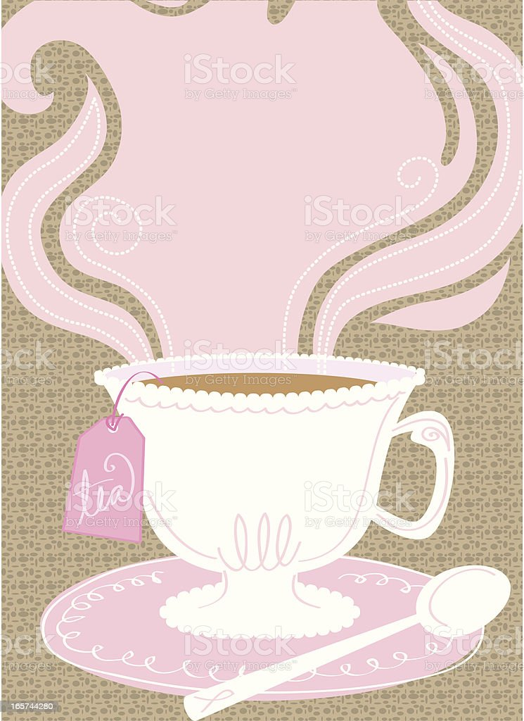 Pink Tea Party background royalty-free stock vector art